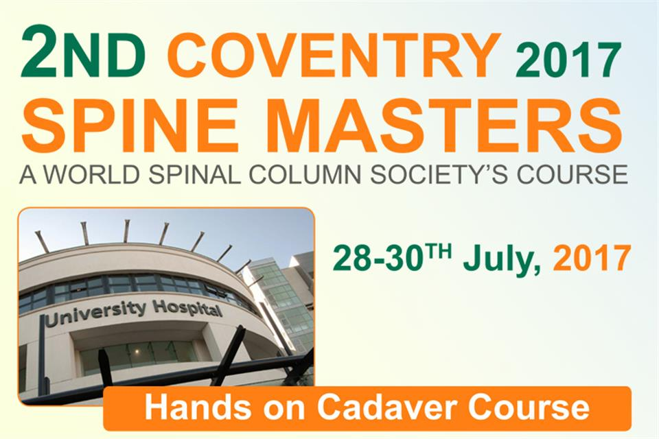 2nd World Spine Masters Course Coventry 2017