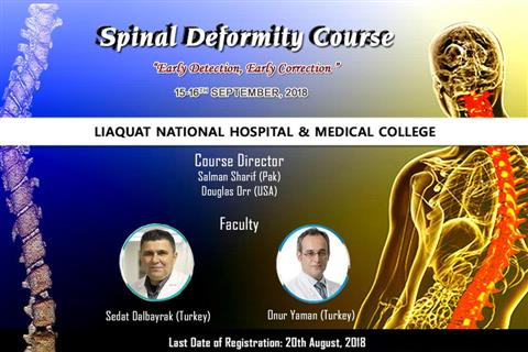 Spinal Deformity Course - 15-16th September, 2018
